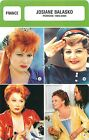FICHE CINEMA FRANCE Josiane Balasko Actrice réalisatrice Période 1986-2000