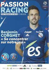 Programme program heft book RC Strasbourg Racing Paris SG PSG 18 Franc rare neuf