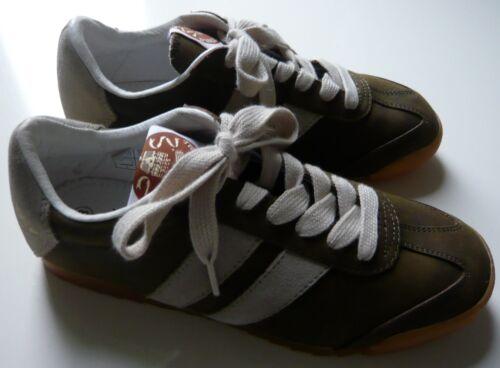 Dunlop Turnschuhe Horse Khaki Crazy Gr38 Trainer Leder Front Sneakers Beige nvw8Nm0O