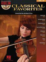 Classical Favorites Sheet Music Violin Play-along Book And Cd 000842646