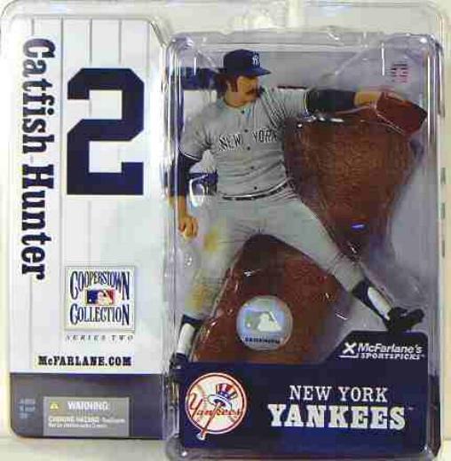 McFarlane MLB  NY Yankees Catfish Hunter Variant Action Figure .