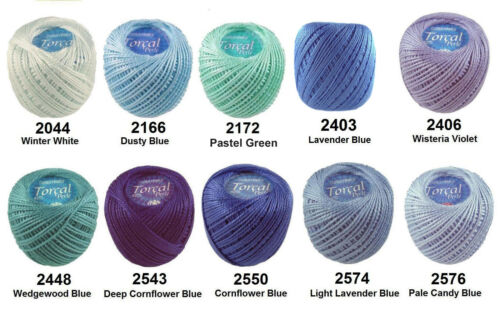 2 x 42m TORCAL Crochet Cotton Embroidery Thread Perle #5 Chart2 Combined Postage