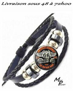 bracelet cuir biker