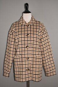MADEWELL NEW $268 Plaid Kenwright Button Front Wool Jacket Medium