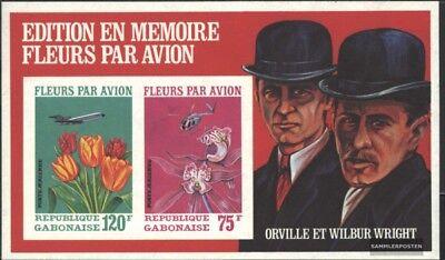Postfrisch 1971 Luftfrachtversand Von Blumen kompl.ausg. Logisch Gabun Block21b