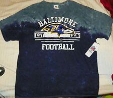"""""""NEW"""" Baltimore Ravens ~ HELMET Logo Tye Dye Dyed SHIRT ~ NFL Adult Sz 1X XL"""