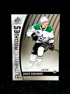 2017-SP-Game-Used-Authentic-Rookies-Denis-Gurianov-34-162-TRUE-Rookie-Gem-Mint