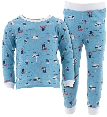 Sweet /& Soft Blue Sail Ships Cotton Pajamas for Infant Toddler Boys