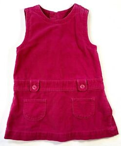 Baby-Gap-Girls-18-24-Months-Pink-Corduroy-Jumper-Dress-with-Pleated-Skirt