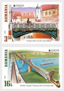 Bridges-Europa-mnh-set-of-2-stamps-2018-Romania