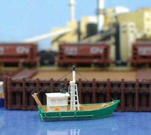 RTR-lackiert-Fishing-Trawler-N-Massstab-1-160-Custom-Designed-Modelleisenbahn-Boot