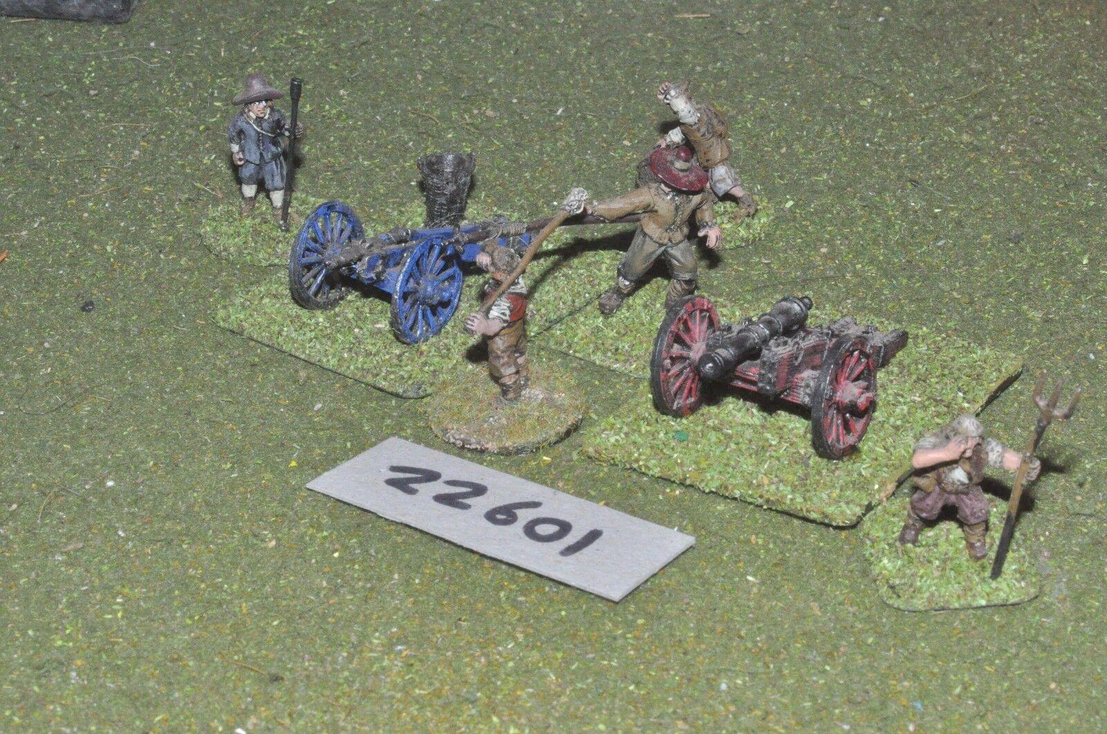 25mm ECW   english - civil war 2 guns & crews art - art (22601)
