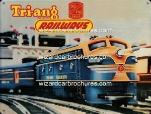 TRAIN-RAILWAY-MODEL-TRIANG-HO-400mm-x-300mm-STEEL-SIGN-NOT-TIN