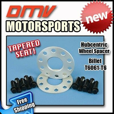 15MM Hubcentric Wheel Spacers Black Tapered Bolts Benz 5x112 66.5 12x1.5