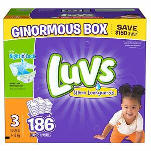 Luvs Ultra Leakguard Diapers Size 3 - 186 Count Best Price and ...