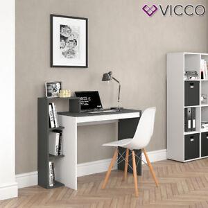 VICCO-Schreibtisch-LEO-Weiss-Anthrazit-Arbeitstisch-Buerotisch-Regal-PC-Tisch