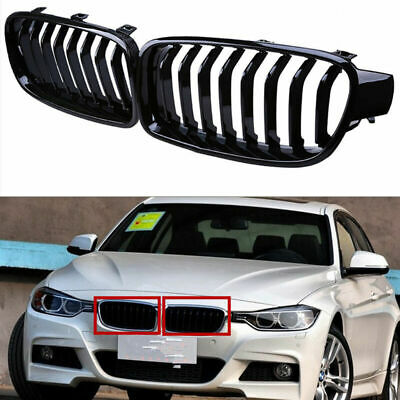 Trade Vehicle Parts BM5032 Kidney Grille Black /& Chrome Sport Driver Side Compatible With 3 F30 Saloon F31 Estate 2012-