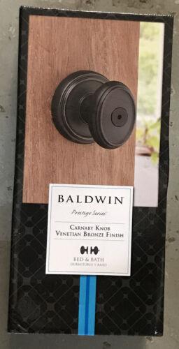 Baldwin Prestige Carnaby Bed//Bath Knob in Venetian Bronze