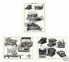 Hammond Remington Mignon Oliver Empire Typewriter etc 3 Reproduction Prints