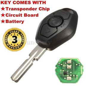 Remote Key Fob Case Blade Transmitter Chip 433mhz For Bmw