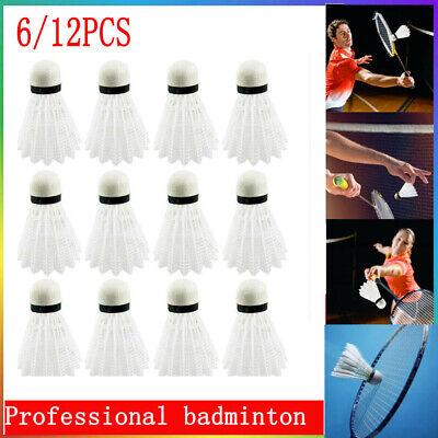 12Pcs White Badminton EVA Shuttlecocks Indoor Outdoor Sports Accessories U2H4