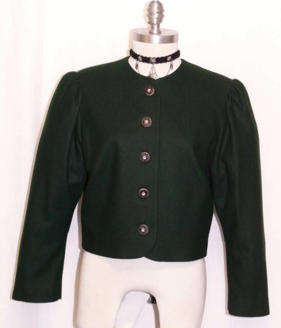 Dark Green Wool German Women Sport Riding Hunting Dress Suit Jacket