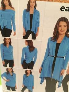 Simplicity-Sewing-Pattern-0341-1065-Misses-Wrap-Twist-Cardigan-Size-XS-XL-Uncut