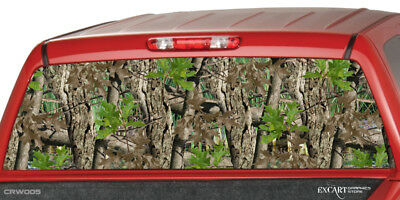 HEAVY TIMBER CAMO Rear Window Graphic  Decal Sticker Camouflage Truck SUV ute