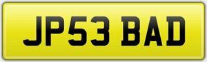 JP-039-S-PRIVATE-CAR-REG-NUMBER-PLATE-JP53-BAD-ALL-FEES-PAID-JP-JOSH-JULIAN-JO-JOE
