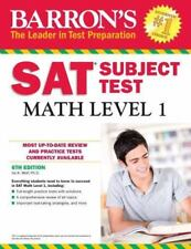 Barron's SAT Subject Test: Math Level 1, 6th Edition by Ira K. Wolf (2016, Paperback)