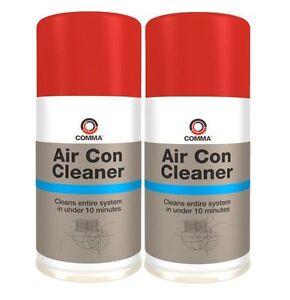 2-x-COMMA-AIR-CON-CLEANER-150ml-AEROSOL-ELIMINATES-BACTERIA-SMELLS-amp-ODOUR-AIRCC