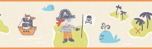 Smita Tapete Borte Carousel DLB50089 Piraten Pirat Schatzinsel Wal Bordüre