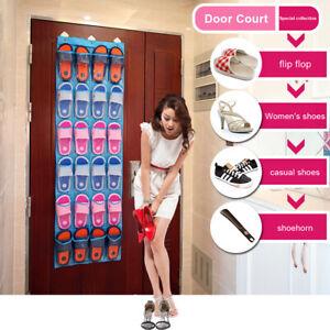 24-Pockets-Clear-Over-Door-Home-Hanging-Bag-Shoe-Rack-Hanger-Organizer-Storage