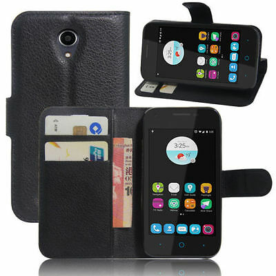 outlet store sale ed863 d8492 Black Wallet Leather Case Cover for Optus 4g ZTE Zip / ZTE Blade A110