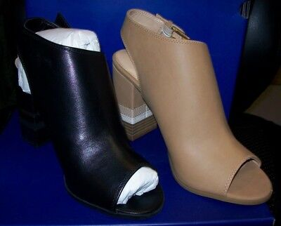 Black E25 New 9 Profession Peep Toe Ankle Boots Women/'s Apt