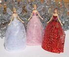 Gisela Graham Fairy Angel Christmas Tree Topper Decoration Pink White Red