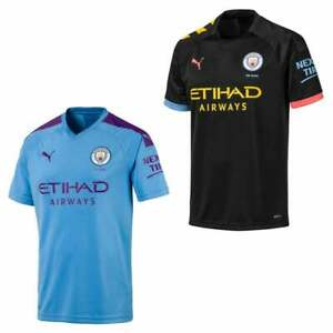 buy online a398f 04982 Details about Puma Mens Manchester City 2019/2020 Home/Away Shirts  (Blue/Black)