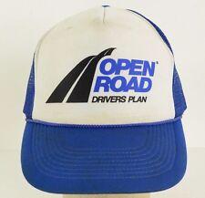 Open Road Drivers Plan Trucking Mesh Trucker Baseball Hat Cap Snapback AS IS