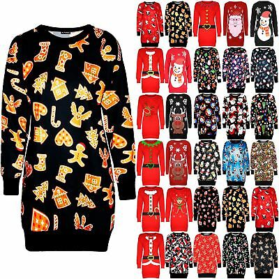 Pflichtbewusst Ladies Xmas Carrot Nose Snowman Jumper Muffler Sweatshirt Fleece Womens Dresses