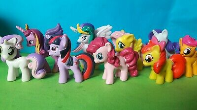 My Little Pony 9 Mini Figure Giocattoli Cake Topper Decorazione Pony-mostra Il Titolo Originale