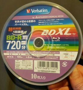4924ba686 Verbatim bluray Blank 10 disc BD R XL 100GB Triple Layer blu ray 4X ...