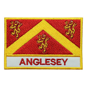 Anglesey County Flag Patch Iron On Patch Sew On Badge Embroidered Patch