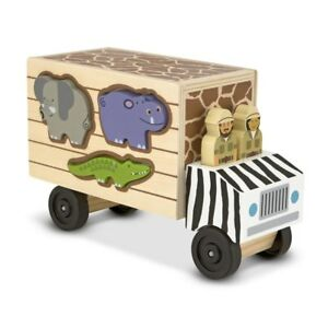 Melissa and Doug - Animal Rescue Shape Sorting Truck Wooden Classic Toy