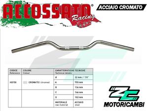 22mm ACCIAIO CROMATO ACCOSSATO RACING 1999-2002 MANUBRIO SUZUKI SV 650 N