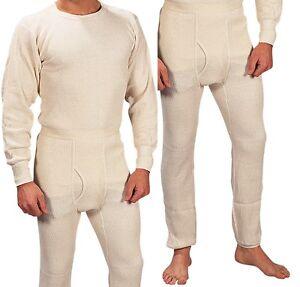 Extra Heavyweight Thermal Knit White Underwear - Long John Winter ...