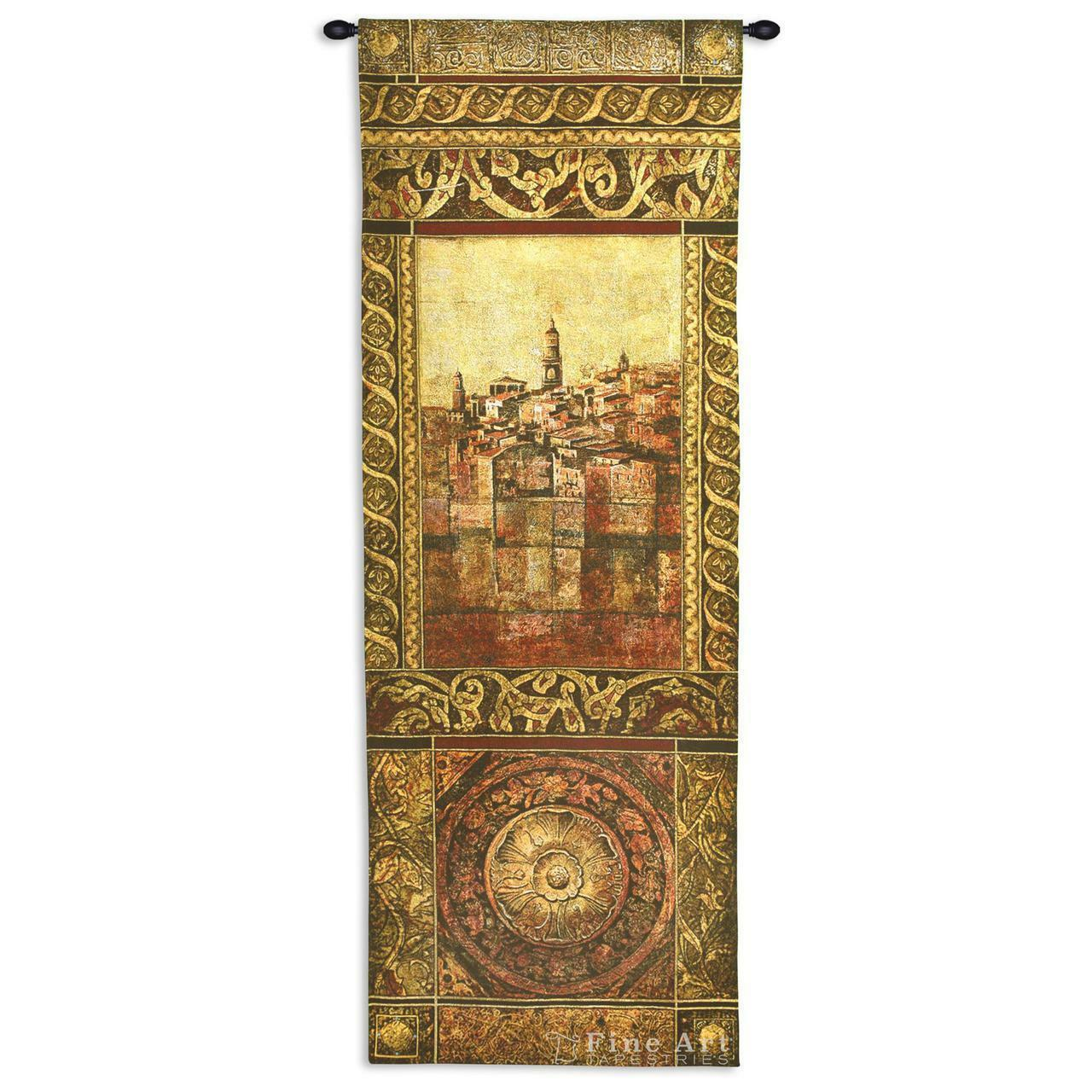 New Enchantement II Medieval Tapestry Wall Hanging Castle Picture 25  x 69