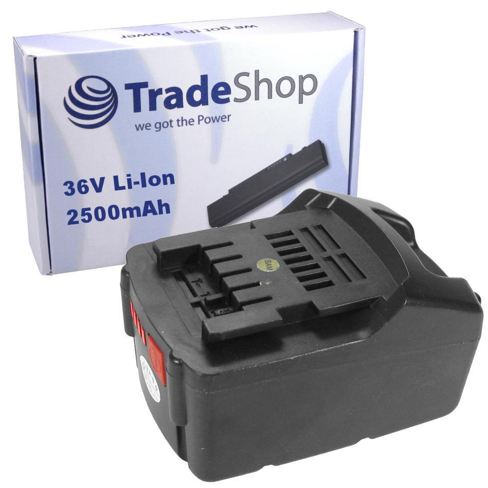 Akku LiIon 36V 2500mAh ersetzt Metabo 6.25453 für AHS BHA KHA 36 LTX SDS Compact