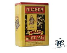 VINTAGE RETRO STYLE QUAKER OATS BREAKFAST CEREAL STORAGE CONTAINER TIN