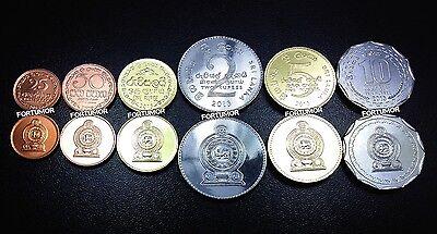 2-50 cents 1978-2004 UNC Sri Lanka set of 5 coins