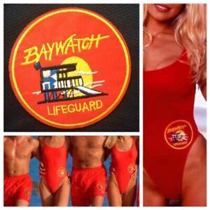 BAYWATCH-Lifeguard-Patch-Iron-On-Badge-90-039-s-TV-Party-Costume-Cosplay-Swimsuit